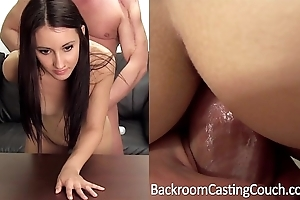 Lay in wait creampie, pre-eminent anal found search for