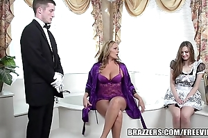 Brazzers - despondent spend a penny threesome