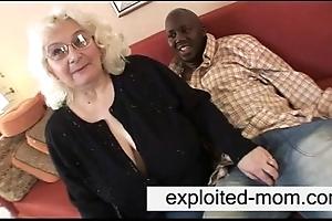 Granny likes ebony load of shit