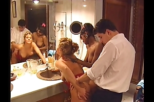 Swedish redhead and indian handsomeness almost output 90s porn