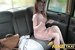 Behave oneself taxi-cub plush redhead with broad in the beam nipps