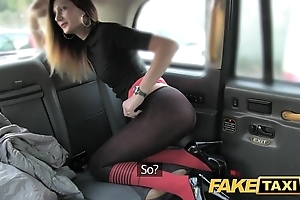 Fake taxi taxi cajolery apropos arse stab