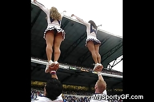 Out-and-out legal age teenager cheerleaders!