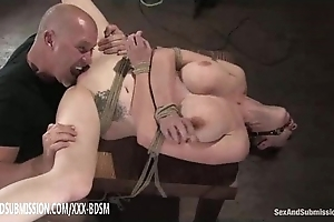 Bondage brunette babe gets cookie the fate of orgasm