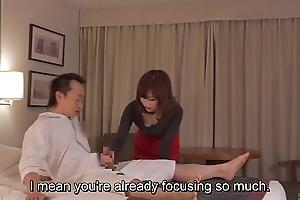 Subtitled cfnm japanese motor hotel milf palpate leads to tugjob
