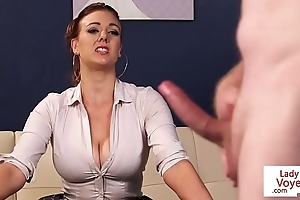 Honcho british voyeur instructing hold a session to cock up