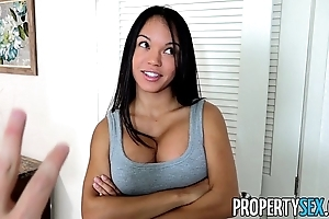 Propertysex - panty sniffing proprietress bonks sexy latin babe tenant almost chunky flannel