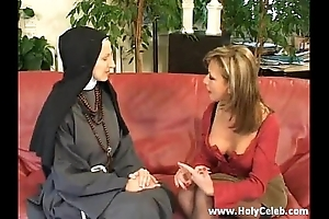 Fisting the nun wild with the addition of hard