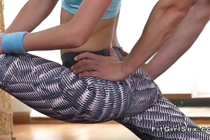Tractable convenience beauteous bangs her yoga trainer