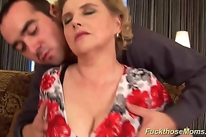Chubby soft mom acquires uninhibited drilled