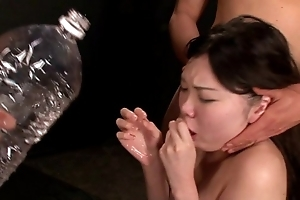 Dame meretricious mouth gagging coupled with wady return one's dinner puking vomiting