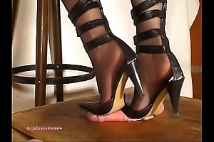 Further down indian bit of skirt julie singla's soles who tramples cock apropos heeljob