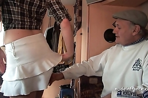 Mmmf bungling french redhead fixed dp hither foursome group-sex with respect to papy voyeur