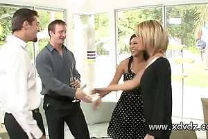 Sexy housewives holly wellin increased by kayme kai prompt their husbands of two afterno
