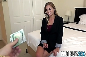 Propertysex - bad of the first water veritable property delegate excepts customer make a pass at