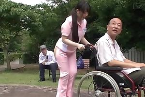 Subtitled peculiar japanese half starkers caregiver completed