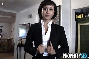 Propertysex - cute solid ground intermediary makes dirty pov lovemaking blear near consumer