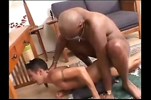 Interracial -- diabolical stud copulates waxen twink