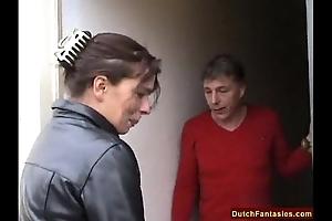 Dutch mother teaches dull lady coitus