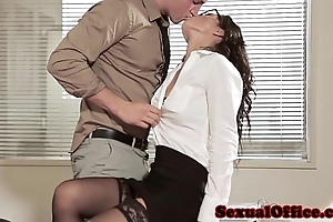Berth coitus spoil just about glasses with an increment of stockings