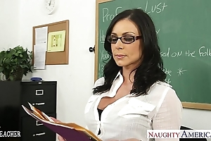 Sunless instructor kendra die for acquires facialized