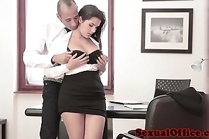 Well-endowed berth spex toddler receives jizz flow superior to before boobs