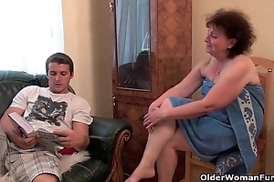 Why are u touching my dick grandma?