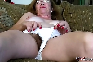 Usawives hairy adult slits toying compilation