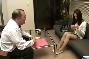 Nozomi mashiro pumped hard round toys during backside oral