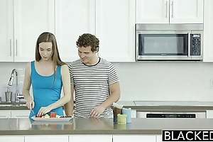 Blacked tali dovas boyfriend lets the brush shot at a obese black blarney