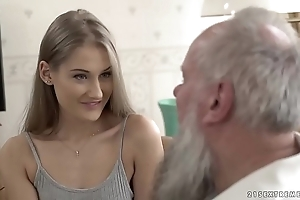 Teen belle vs venerable grand-dad - tiffany tatum and albert
