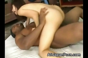 Japanese creampied off out of one's mind a black!