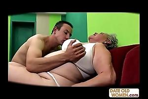 Obese venerable cum-hole screwed no cock-sock