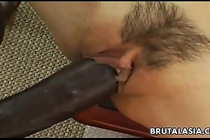 Smoking sexy asian virago has a Stygian load of shit forth ride