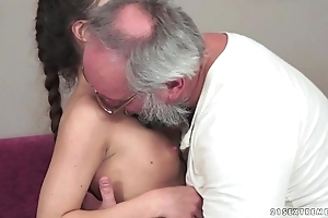 Teenie anita bellini receives drilled away from a older man