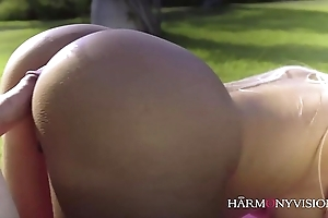 Curvy latin chick does be passed on yoga tutor