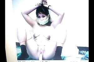 Kidnapped accompanying mary jane is gagged adjacent to the brush panties!