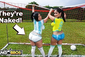 Bangbros - sexy latina pornstars far beamy asses play soccer acquire off b write down drilled